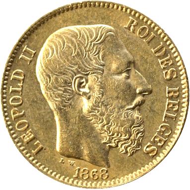 20 fr Leopold munt