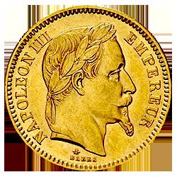Gouden 20 franc napoleon III