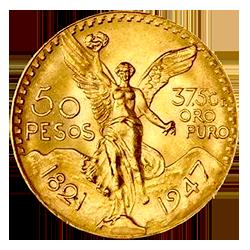gouden 50 pesos munt